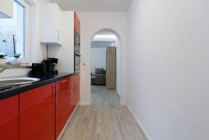 Küche/Küchenzeile in der Unterkunft Luxusapartment nahe Müggelsee