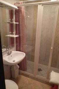 Koupelna v ubytování Hotel Napsugar