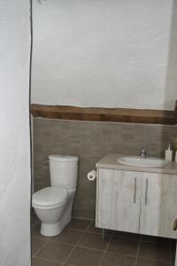 A bathroom at Chambres d'hôtes - Hirondelle Farm
