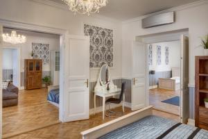 Χώρος καθιστικού στο Veleslavinova Apartment