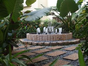 A garden outside Alocassia Serviced Apartments