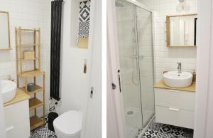 A bathroom at Cozy Design Apartment