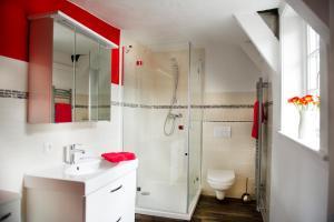 Ein Badezimmer in der Unterkunft Ferienwohnung Goslar Runenhaus