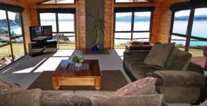 Posezení v ubytování Pukaki Lakeside Getaway House