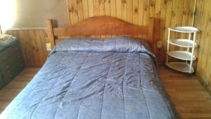 Una cama o camas en una habitación de Departamento Cívico Bariloche