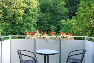 A balcony or terrace at Ferienwohnung Grünes Herz