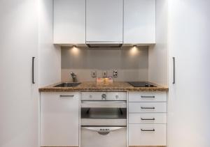 A kitchen or kitchenette at Avani Metropolis Auckland Residences