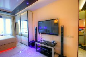 Телевизор и/или развлекательный центр в Premium apartments in Yasenevo