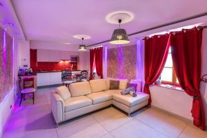 Χώρος καθιστικού στο Holiday Home & Spa - Le Rendez Vous de Vauban