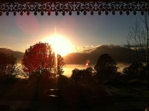 The sunrise or sunset as seen from the chalet or nearby