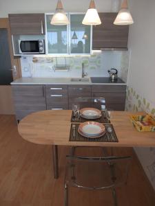 Kuchyň nebo kuchyňský kout v ubytování Ubytování U Aurory