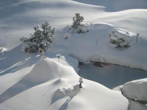Toepferhuus Albinen im Winter