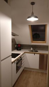 Een keuken of kitchenette bij Seaside Apartment