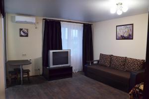 A television and/or entertainment center at Аппартаменты на Алексадра Поля 115