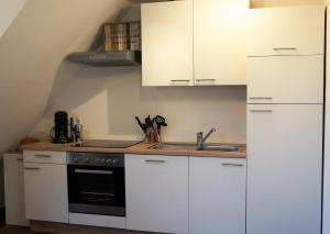 A kitchen or kitchenette at BodenSEE Apartment Meckenbeuren Habacht