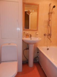 A bathroom at Chelny Apartments Hotel