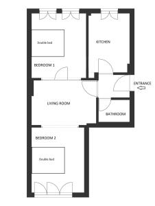 The floor plan of Urban Stay Apartment
