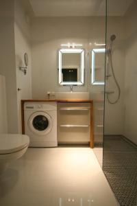 Um banheiro em Towarowa Residence