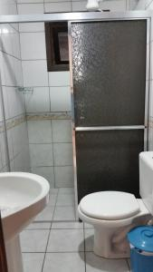 A bathroom at Residencial Marítimos