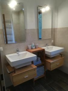 Ein Badezimmer in der Unterkunft Ferienhof Unterführholzergut