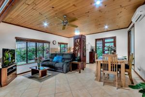 A seating area at Platypus Springs Rainforest Retreat