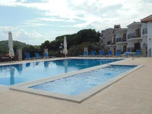 The swimming pool at or near Skiathos Diamond