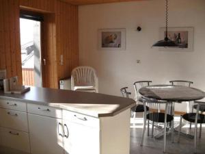 Küche/Küchenzeile in der Unterkunft Ferienwohnung Jugl