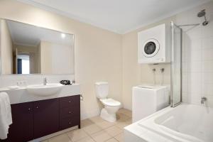 A bathroom at Quest Mont Albert