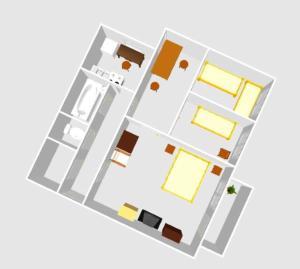 Nacrt objekta Örs Vezér Apartment Beatle 01