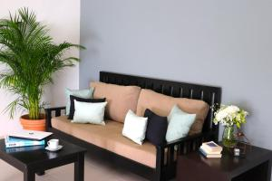 A seating area at Palms Tulum Condo