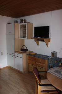 A television and/or entertainment center at Haus Franziska
