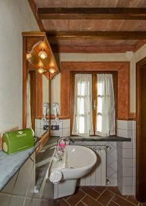 A bathroom at Agriturismo Valliferone