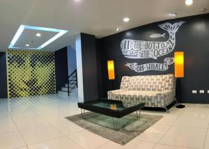 The lobby or reception area at The Pixel Panwa