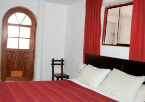 Cama o camas de una habitación en Departamento Mercado San Pedro