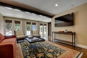 A seating area at LBJ Estate near Lake Austin