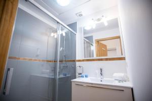 A bathroom at Historical Center Apartments
