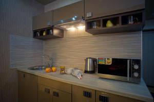 Кухня или мини-кухня в Apartamienty na Mira 70a