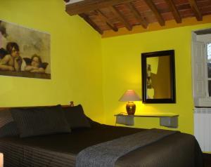 Letto o letti in una camera di Casa Verde
