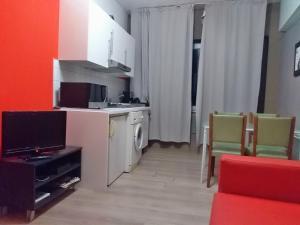 Télévision ou salle de divertissement dans l'établissement Apartments AMS Brussels Flats