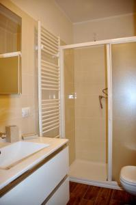 A bathroom at HOME NEAR LAKE, VARENNA