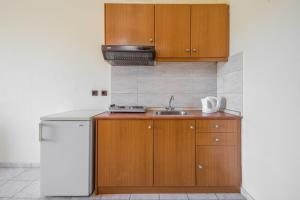 A kitchen or kitchenette at Alea Hotel Apartments