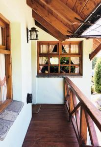 Un balcón o terraza en Bungalows Santa Lucia