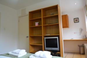 A television and/or entertainment center at Studios2Let - North Gower