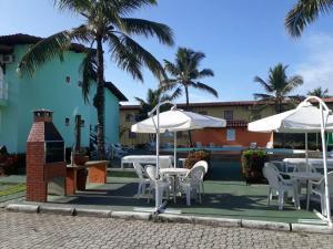 A porch or other outdoor area at Apartamento Taperapuã Village
