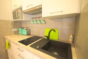 Kuchnia lub aneks kuchenny w obiekcie Apartament Limonkowy