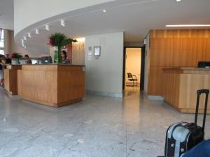 The lobby or reception area at Flat Recife Hotel & Convention