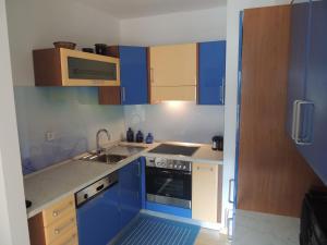 Küche/Küchenzeile in der Unterkunft Apartma Bovec