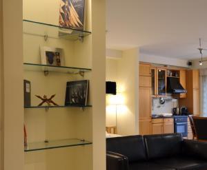 A kitchen or kitchenette at Luxury Yoga Apt next to Buda Castle