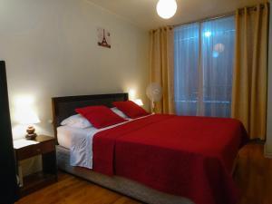Cama o camas de una habitación en Departamento Teatinos