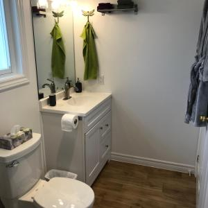 A bathroom at Twin Birch Suites and Cottages